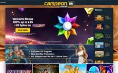 campeonuk screenshot and website design