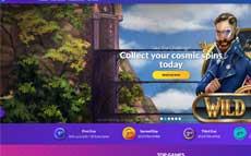 screenshot of design of playluck casino